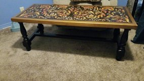Hand Tooled Leather Coffee table from Peru in Fort Polk, Louisiana