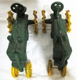 """Two  Vintage John Deere Large 11"""" Diecast Metal Tractor in Fort Campbell, Kentucky"""