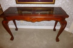 """Stunning Sofa or Hall Beveled Glass Top """"Claw Foot"""" Table, EXC Gorgeous in Katy, Texas"""