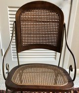Retro Metal Framed chair with cane seat in Spring, Texas