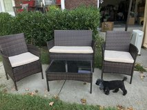 Indoor/outdoor vinyl wicker set in Clarksville, Tennessee