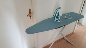 Iron and ironing board in Hohenfels, Germany