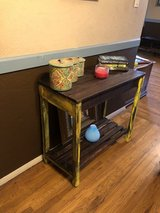 Solid wood rustic hallway table with 2 drawers in Fort Bliss, Texas