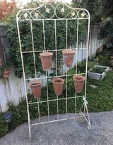 Outdoor Iron Plant Stand in Travis AFB, California