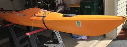 Wilderness Kayak, roof top carrier, paddle, and ceiling pulley storage system in Sandwich, Illinois