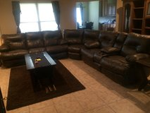 3 Piece Brown Faux couch set in DeRidder, Louisiana