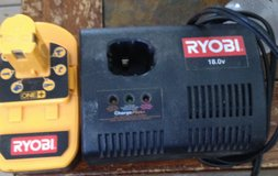 Ryobi 18.0v charger and battery in Alamogordo, New Mexico