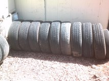 NICE ASSORTMENT OF USED TIRES. IDEAL FOR SPARE. in Alamogordo, New Mexico