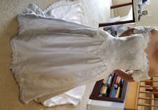 Wedding gown with 6ft train and hand ne bead and lacework in Oceanside, California