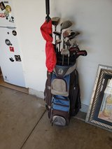 Warrior Golf Clubs, MG bag and golf umbrella in Plainfield, Illinois