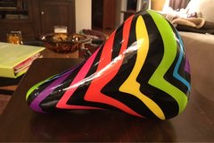 Multi Colored Bike Seat in Oswego, Illinois