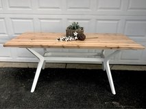 Reclaimed wood dining table in Chicago, Illinois