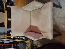 Tan microfiber accent chair in Oswego, Illinois