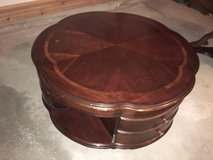 Round cherry coffee table in Naperville, Illinois