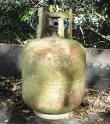 Propane Tank for Yard Art or make a BBQ Grill, Rusted, Cannot be filled, for repurpose in Warner Robins, Georgia