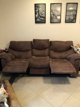 Ashley Furniture set with rocking recliner excellent condition in Okinawa, Japan