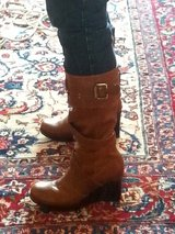 Leather platform boots in Ramstein, Germany
