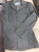39 Regular Service Alpha coat, with fitted belt in Okinawa, Japan