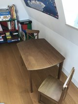 Kids small wooden table with two chairs in Stuttgart, GE
