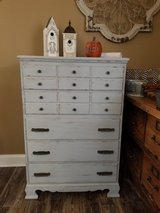 Weathered and distressed 5 drawer dresser in Naperville, Illinois