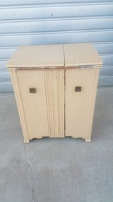 Vintage sewing cabinet in Yucca Valley, California