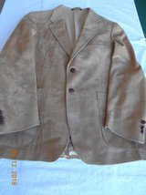 Mens (Gold) Suede Dress Coat in Alamogordo, New Mexico