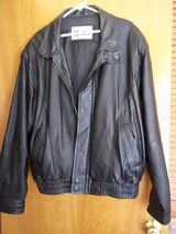 Men's black genuine leather jacket in Moody AFB, Georgia