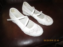 Gently used Skechers white eyelette shoes in Alamogordo, New Mexico