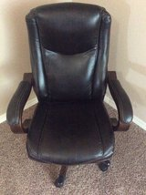 Brown Leather Office Chair in Fort Bliss, Texas