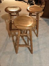 oak bar stools-3- 30 inch bar stools swivel seats in Chicago, Illinois