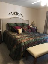 King size bed with headboard in Yucca Valley, California
