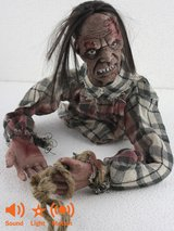 Halloween Animated Crawling Zombie Floor Prop Light Up Sound Halloween Party Decoration in Baumholder, GE