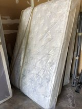 Queen mattress, box spring and bed frame in Westmont, Illinois