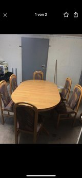 Dining Table with 6 Chairs in Ramstein, Germany