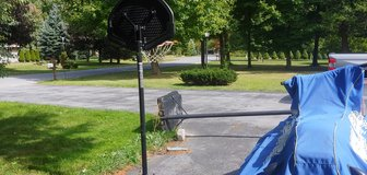 2 basket ball hoops in Fort Drum, New York
