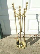 Brass Fireplace Hearth Tool Set in Plainfield, Illinois