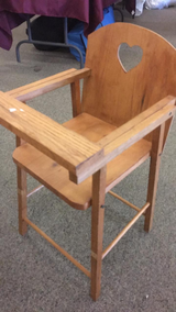 Doll High Chair (Solid Wood) in Fort Leonard Wood, Missouri