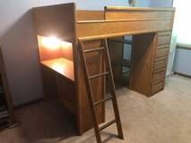 Bunkbed loft with desk in Westmont, Illinois