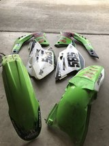 Kawasaki KX450F full plastics( used in Camp Pendleton, California