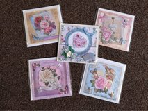 bundle of 5 new handmade 3D cards in Lakenheath, UK