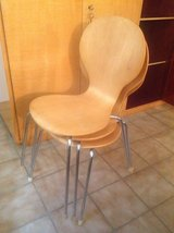 Wood Chairs - set of 6 in Ramstein, Germany