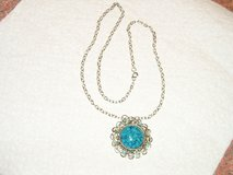 Necklace With Large  Turquoise Pendant in Joliet, Illinois