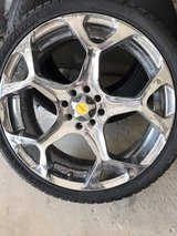 18' Focal Chrome Rims like-NEW tires in Camp Lejeune, North Carolina