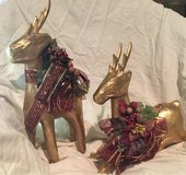 pair of gold reindeer in Houston, Texas