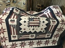Bedspread and pillow covers in Fort Riley, Kansas