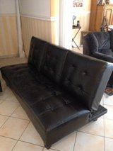 Leather Futon in Ramstein, Germany