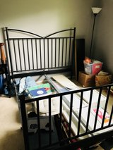 Crate and barrel queen bed frame in Naperville, Illinois