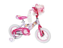 Brand New Condition Huffy Girl's Disney Princess Bike, Soft Pink/Pink, 12-Inch With Doll Carriage in Yorkville, Illinois