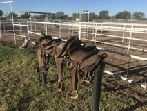 Old Saddles in Alamogordo, New Mexico