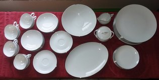 Beautiful 44 Piece Fine China Set by Style House! Platinum Ring from 1969 in St. Charles, Illinois